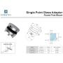 Italian design outdoor adjustable stainless steel glass railings bracket glass standoff