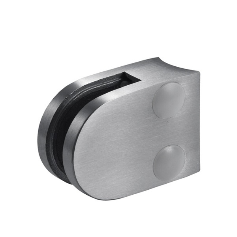 handrail accessories stainless steel 304/316 d glass clamp round flat back glass fixing stainless steel clamp