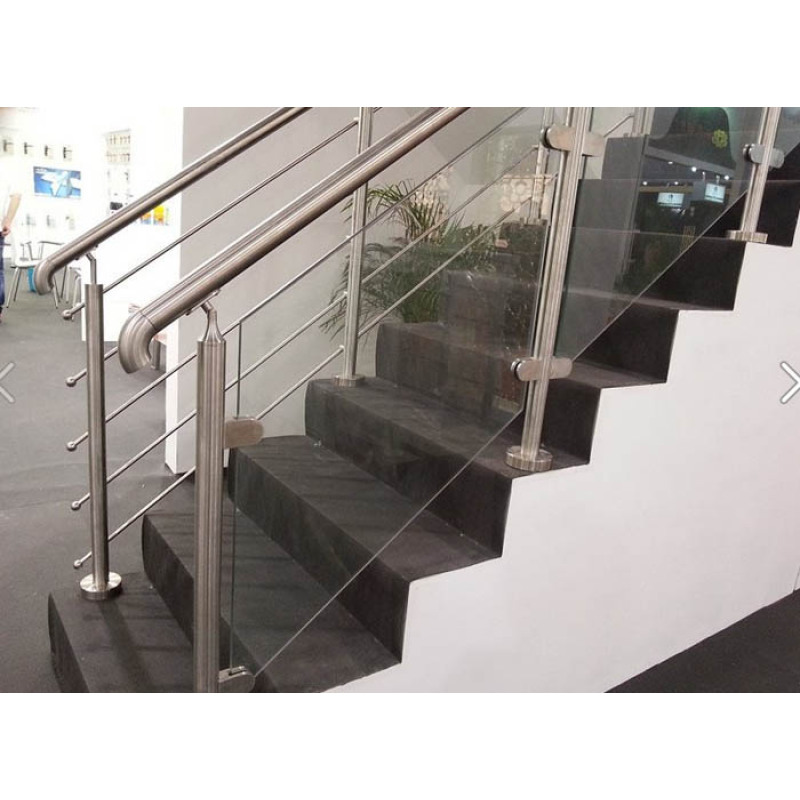 stainless steel balustrade round outdoor handrail railing pipe baseplate cover