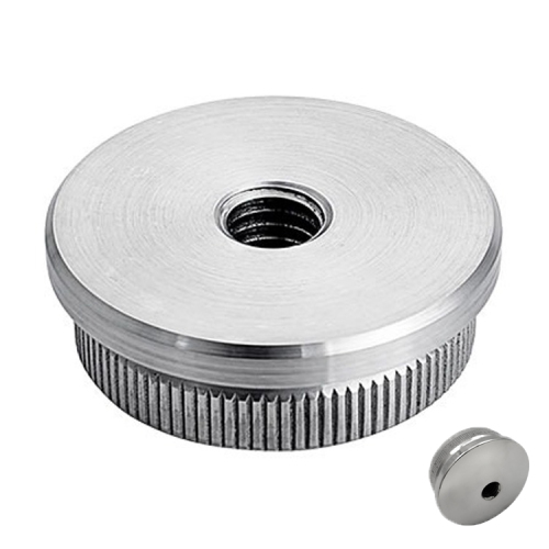 end caps 50mm stainless steel handrail stainless steel cercle end cap for stainless steel pipe