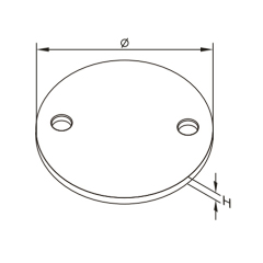Railing Accessories Stainless Steel Handrail Plate With Two Holes For Stainless Steel Railing