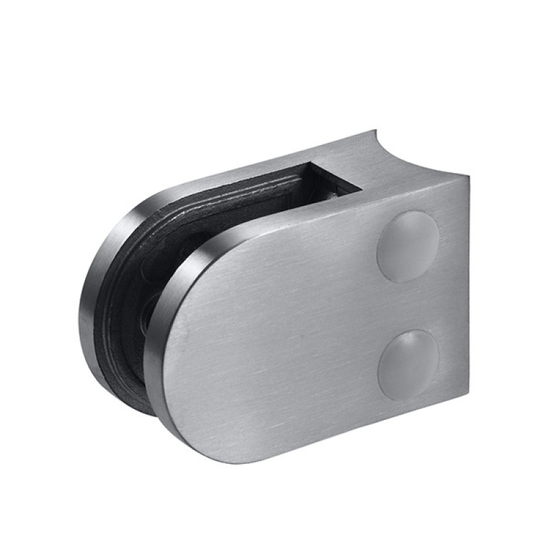 Italian design stainless steel frameless d-clamp glass dual sided banister glass clamp