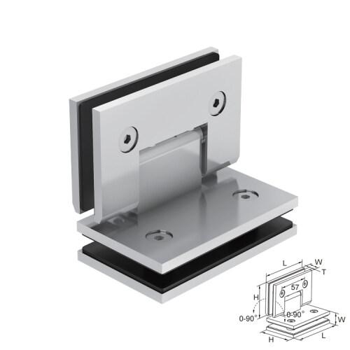 180 degree corner shower double hinged stainless steel hardware black door hinge for glass door