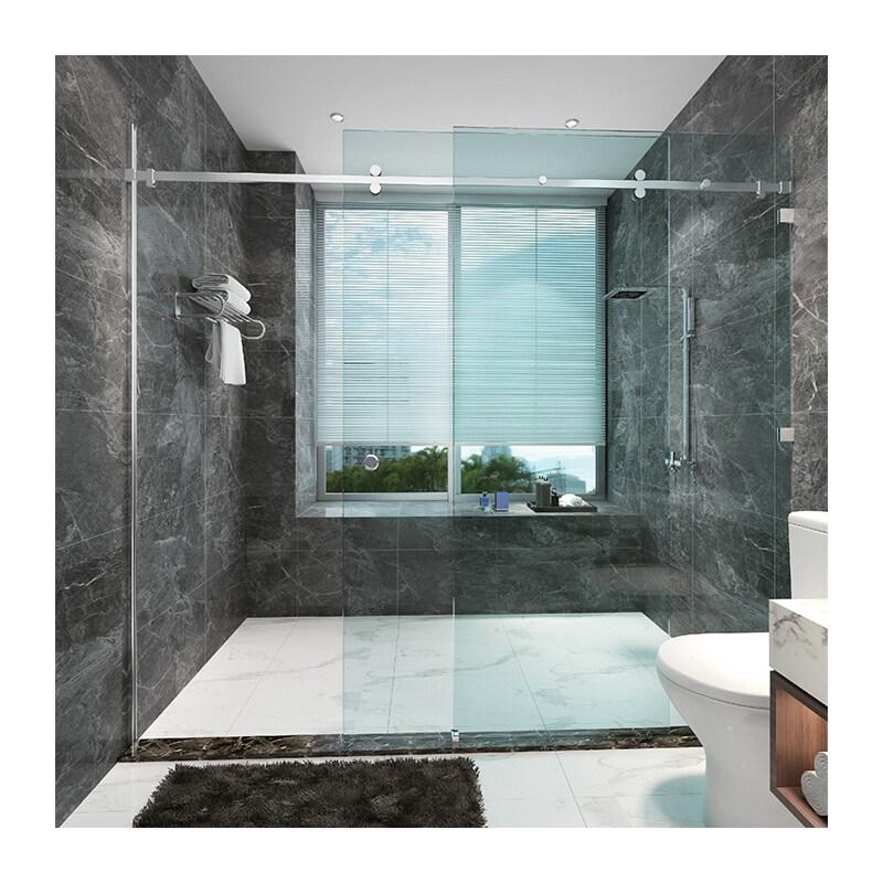 stainless steel sliding door kits bathroom rail slide frameless glass sliding door system