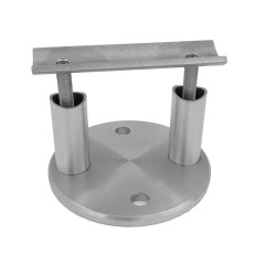 modern round plate stainless wall support glass balustrade mounting glass support stainless steel pipe bracket