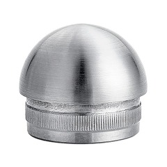 stainless steel tube dome end cap 25.4mm pipe end cap for slot pipe