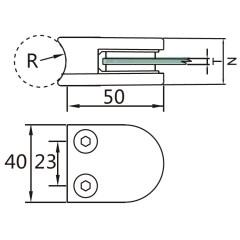 factory glass balcony railing clamp bracket stainless glass clamp for frameless glass