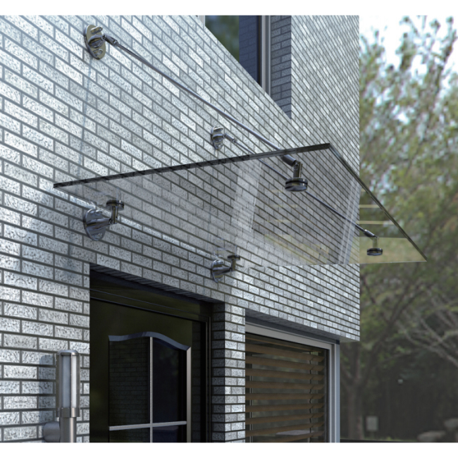 glass door entry canopy stainless steel curtain wall awnings canopy fittings for glass awnings