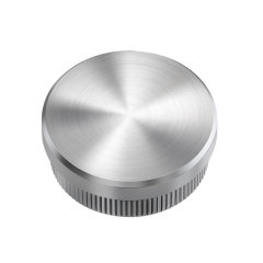 handrail decorative fittings stainless steel threaded pipe end cap