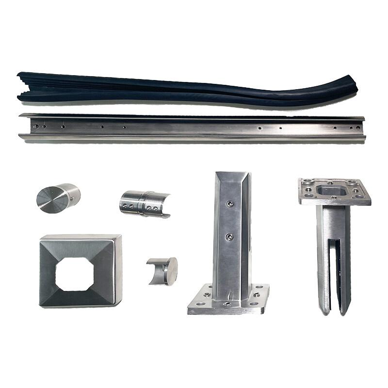 german craft frameless glass balustrade square stainless steel glass pool fence spigot adjustable face spigot