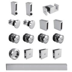 popular selling stainless steel sliding door roller wheels shower sliding glass door system fitting hardware