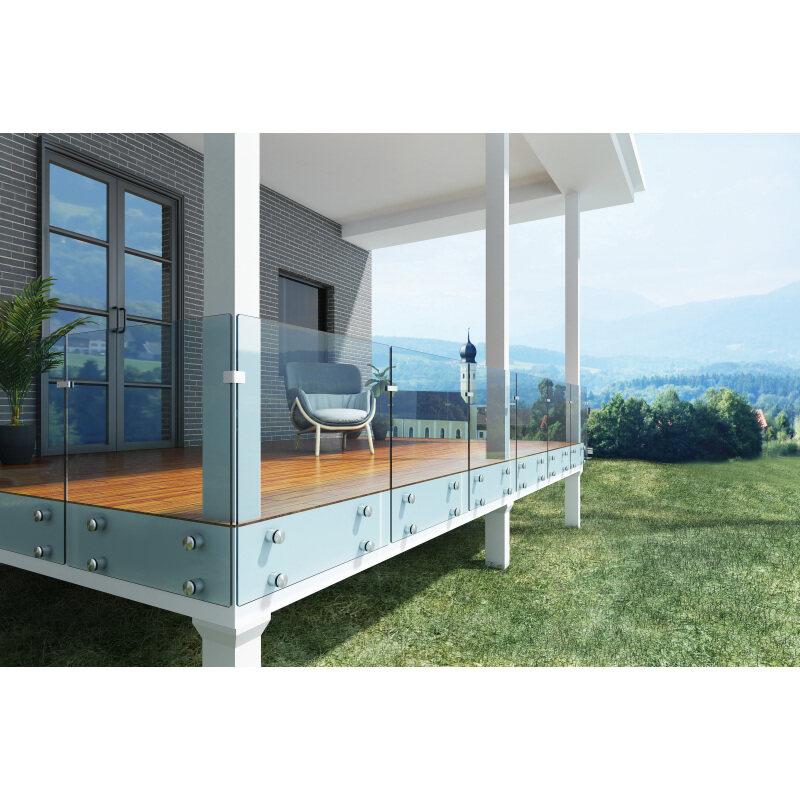 balcony railings stainless steel glass handrail clamp holder glass standoff for glass railing