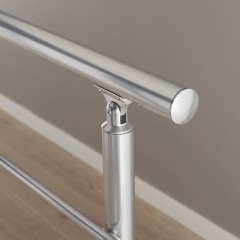 stainless steel curved end cap cover 50mm 1