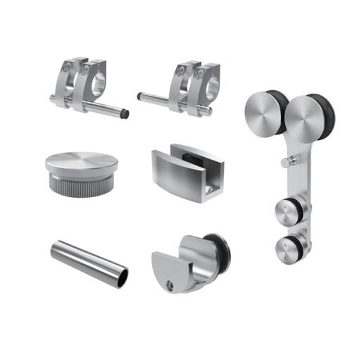 bathroom shower doors sliding tempered glass fitting stainless steel sliding door accessories