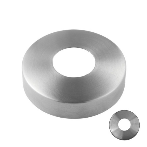stainless steel glass railing handrail fence post base round plate cover