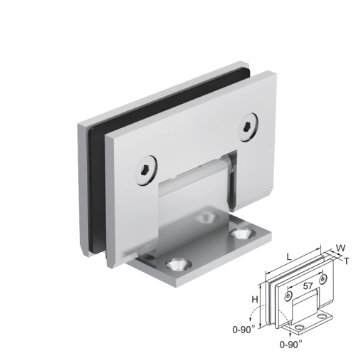 90 degree gold bathroom shower glass door hinge stainless steel