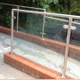 balcony railings bathroom stainless steel wall mounted clamp glass clamp