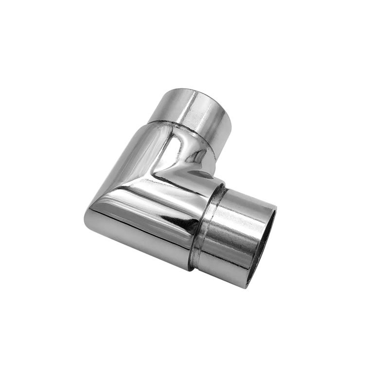 china supplier durable deck railing handrail connector 90 degree stainless steel elbow 316