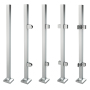 german craft outdoor stainless steel single stair handrail railing glass clamp square post pipe