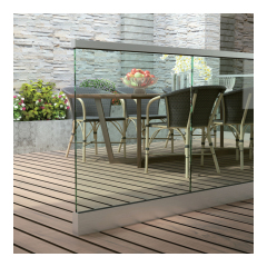 aluminum indoor deck balcony porch stair railing profile tempered glass panel railing aluminum u channel for frameless