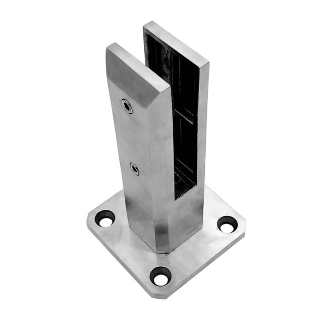 2205 glass railing stainless steel swim pool glass spigot adjustable glass spigot for stair