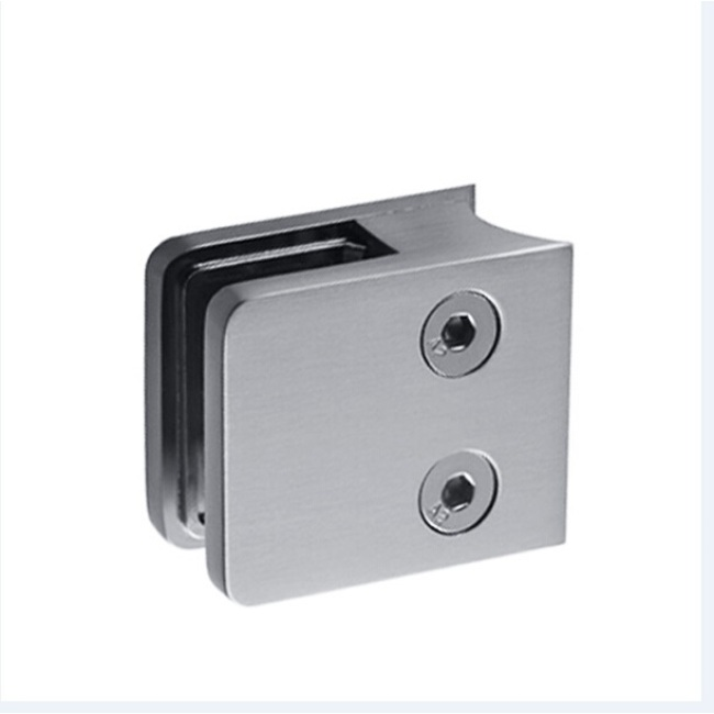frameless balustrade handrail stainless glass accessories glass clamp for building railing