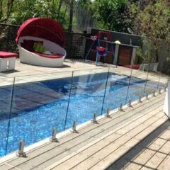 frameless balustrade glass railing spigot core drill duplex 2205 black spigot glass railing
