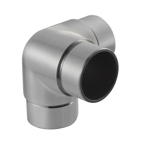 stainless steel handrail elbow 3 way round tube connectors 90 degree elbow