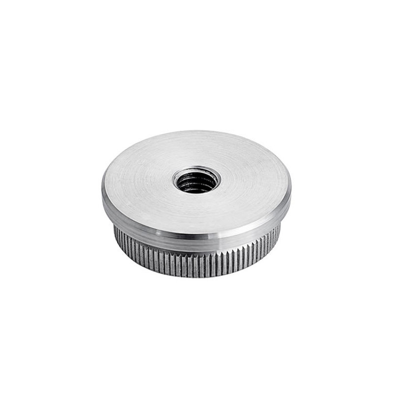 good price 42.4mm glass stair handrail 304/316l stainless steel tube flat end caps for railing
