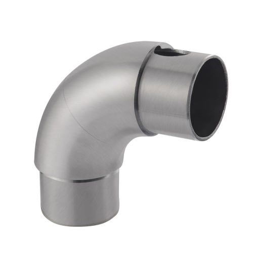 Professional casting stainless steel handrail connector fitting railing pipe elbow for banister