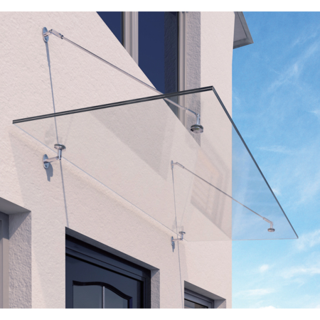 High Quality Outdoor Stainless Steel Shelf Support Awnings Bracket Fittings glass canopy awning system