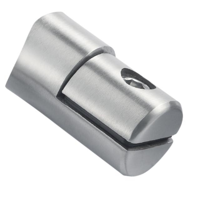 Adjustable metal rod holder stainless steel round bar fittings railing cross bar holder for balustrade