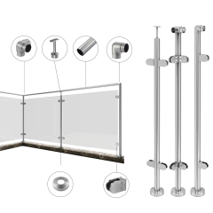 wooden handrail hardware fitting stainless steel glass spigot pool fence glass handrail accessories