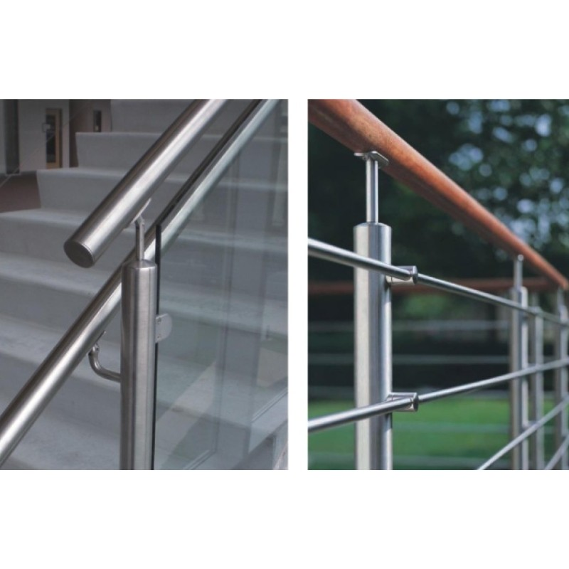 stainless steel glass spigot pool fence handrail support handrail brackets handrail connector