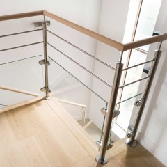 Construction Real Estate Balustrades Handrails Accessories Stainless Steel Stair Handrail Pipe Holder Handrail Support 90 Degree Tube Support Handrail