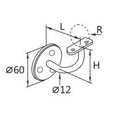 Glass Railing Pipe Holder Stainless Steel Bracket Stainless Steel Handrail Fittings