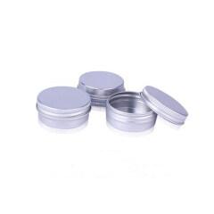 Empty 15ml 0.5 oz Aluminum jar 15 ml Aluminium Tin with Screw Lid