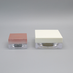 Wholesale Mini Clear Square Cosmetic Loose Powder Jar Container for Loose Powder