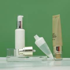 Wholesale luxury white semi clear cosmetic foundation airless pump tube 30ml pcr airless pump tube