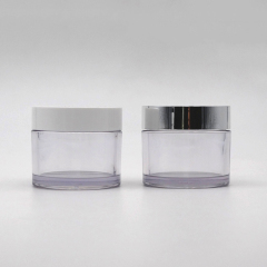 wholesale clear round cosmetic 200ml petg cream jar for skin care