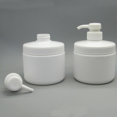 Round White Bottle of Lotion Pump DNLPE-501