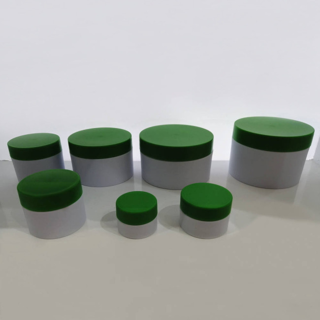 Duannypack hot sale 50g 100g 150g 200g round double wall PP face mask empty moisturizer face set containers