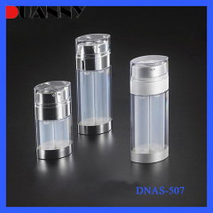 DNAS-507 Oval Shape Acrylic Dual Chamber Airless Pump Bottle