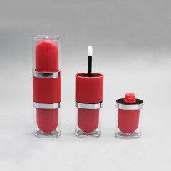 DNTL-544 double head square empty lip gloss tube with brush