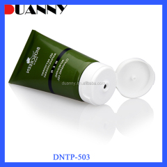 DNTP-503 Squeeze Soft Plastic Cosmetic Tube with Silver Flip Top Cap