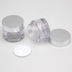 high end clear 30g 50g recyclable petg cosmetic clear petg jar