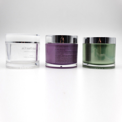 wholesale 5g 10g 15g 30g 50g 100g 150g 200g round purple acrylic jar cream jar green 4oz cream jars
