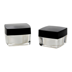 Wholesale 5g 15g 30g 50g 100g Luxury Empty Square Acrylic Cream Jar Container for Skin Care Cream