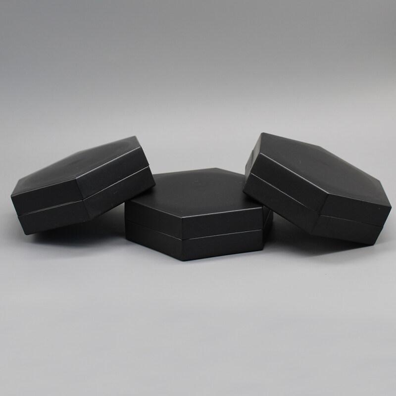 80g Black Plastic Cosmetic Cream Jar Container for Hair Gel