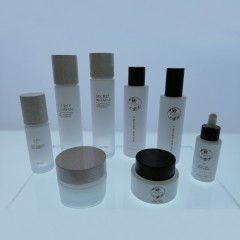 wholesale hot sale 15g 30g 50g 30ml 50ml matte frosted black glass cream jar for skincare